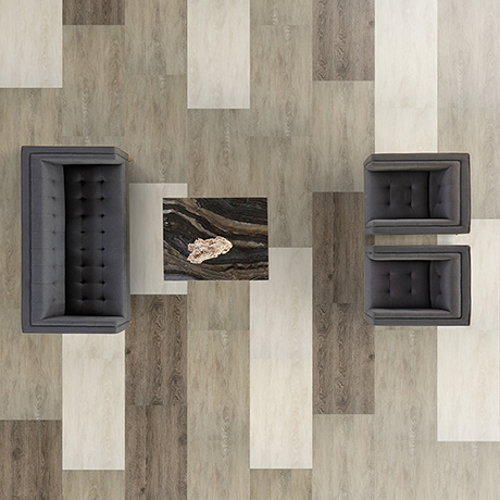 Solitude luxury vinyl tile by Shaw Contract Group.