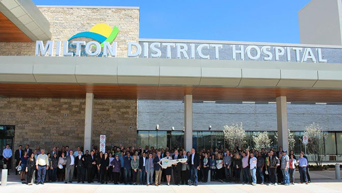 PCL Achieves Substantial Completion On Milton District Hospital
